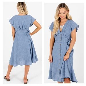 Fashion on Earth By Your Side Button up Midi Dress